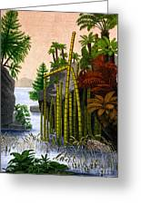 Plants Of The Triassic Period Greeting Card