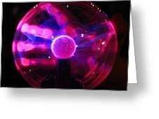 Plasma Hand Greeting Card