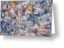 Plastic Bottles Greeting Card