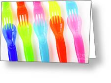 Plastic Cutlery Greeting Card