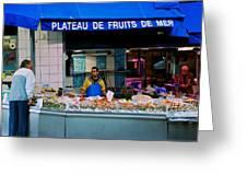 Plateau De Fruits De Mer Greeting Card