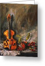 Play Me A Love Song Greeting Card