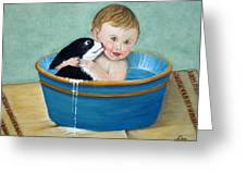 Playing In The Tub Greeting Card