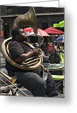 Playing The Tuba _ New Orleans Greeting Card