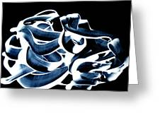 Playing With Paintcolours On A Black Background Greeting Card