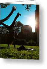 Playing With The Sun - Philadelphia - Pensilvania - Sunset Greeting Card