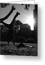 Playing With The Sun II - Philadelphia - Pensilvania - Sunset Greeting Card