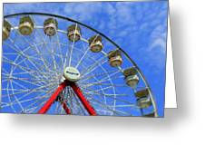 Playland Ferris Wheel Greeting Card by Maria Scarfone