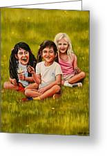 Playtime In The Field Greeting Card