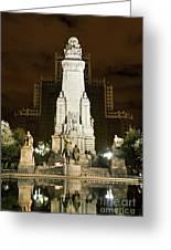 Plaza De Espana Madrid Spain Greeting Card