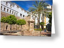 Plaza De La Iglesia In Marbella Greeting Card