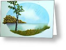 Pleasant Day By The Lake. Greeting Card