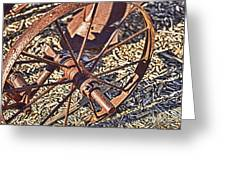 Plow Wheel Greeting Card