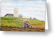 Plowing In Greeting Card