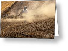 Plowing The Ground Greeting Card by Mike  Dawson
