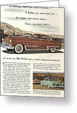 Plymouth De Soto 1953 Greeting Card