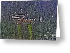 Plymouth Fury Logo Greeting Card
