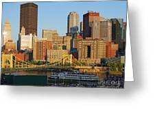 Pnc Park And River Boat Greeting Card