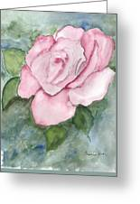 Pnk Rose Greeting Card