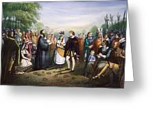 Pocahontas & John Rolfe Greeting Card