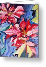 Poinsettia Color Greeting Card