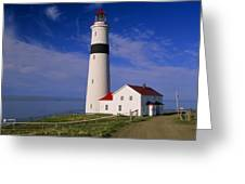 Point Lamour Lighthouse Overlooking Greeting Card