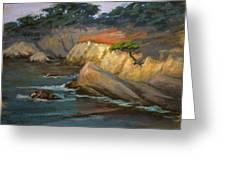 Point Lobos Last Light Greeting Card