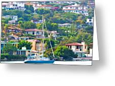 Point Loma Harbor Side Greeting Card