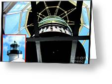 Point Loma Lighthouse Lens Greeting Card