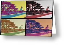 Point Loma Lighthouse Warhol Greeting Card