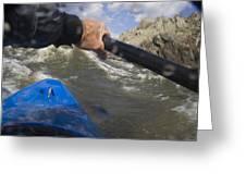 Point Of View White Water Kayaking Greeting Card