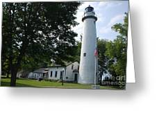Pointe Aux Barqes Lighthouse Greeting Card
