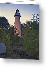 Pointe Aux Barques Lighthouse 7072 Greeting Card