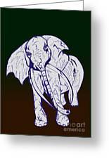 Pointillism Elephant Greeting Card