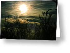 Polarized Sunset Greeting Card