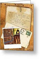 Polaroid Of Open Door To Church With A Bible Verse Greeting Card
