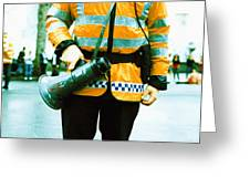 Police Officer Greeting Card by Kevin Curtis