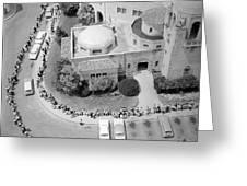Polio Immunization, Aerial View, 1962 Greeting Card
