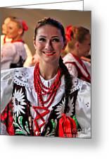 Polish Folk Dancing Girl Greeting Card