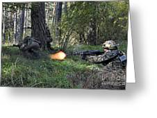 Polish Soldiers Engage In Simulated Greeting Card