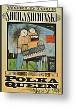 Polka Queen Poster Greeting Card