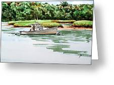 Polly C On The Mill River Greeting Card by Peter Sit