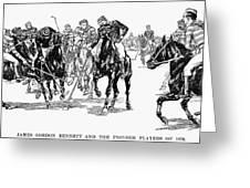 Polo, 1876 Greeting Card