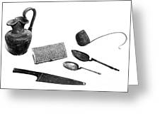 Pompeii: Kitchen Utensils Greeting Card