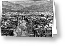 Pompeii: Ruins, C1880 Greeting Card