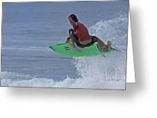 Ponce Surfer Soar Greeting Card