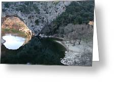 Pond Dark Ardeche France Greeting Card