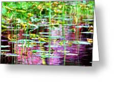 Pond In Purple Greeting Card