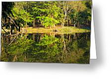 Pond Reflection Guatemala Greeting Card