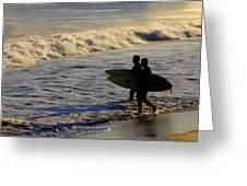 Ponquogue Surfers Greeting Card